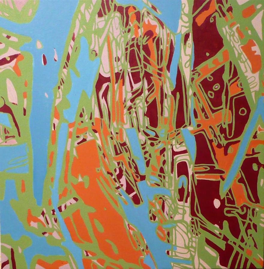 """Lakeland 2, Oil on Canvas, 26"""" x 26"""", 2007"""