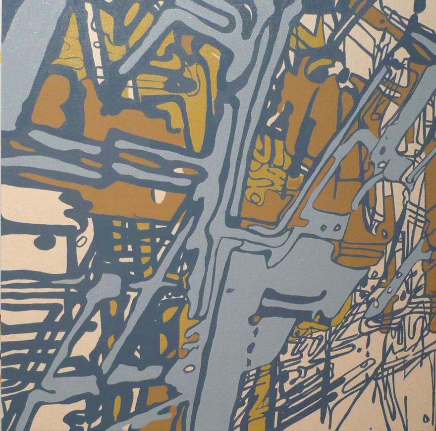 """Lakeland 4, 26"""" x 26"""", Oil on Canvas, 2007"""