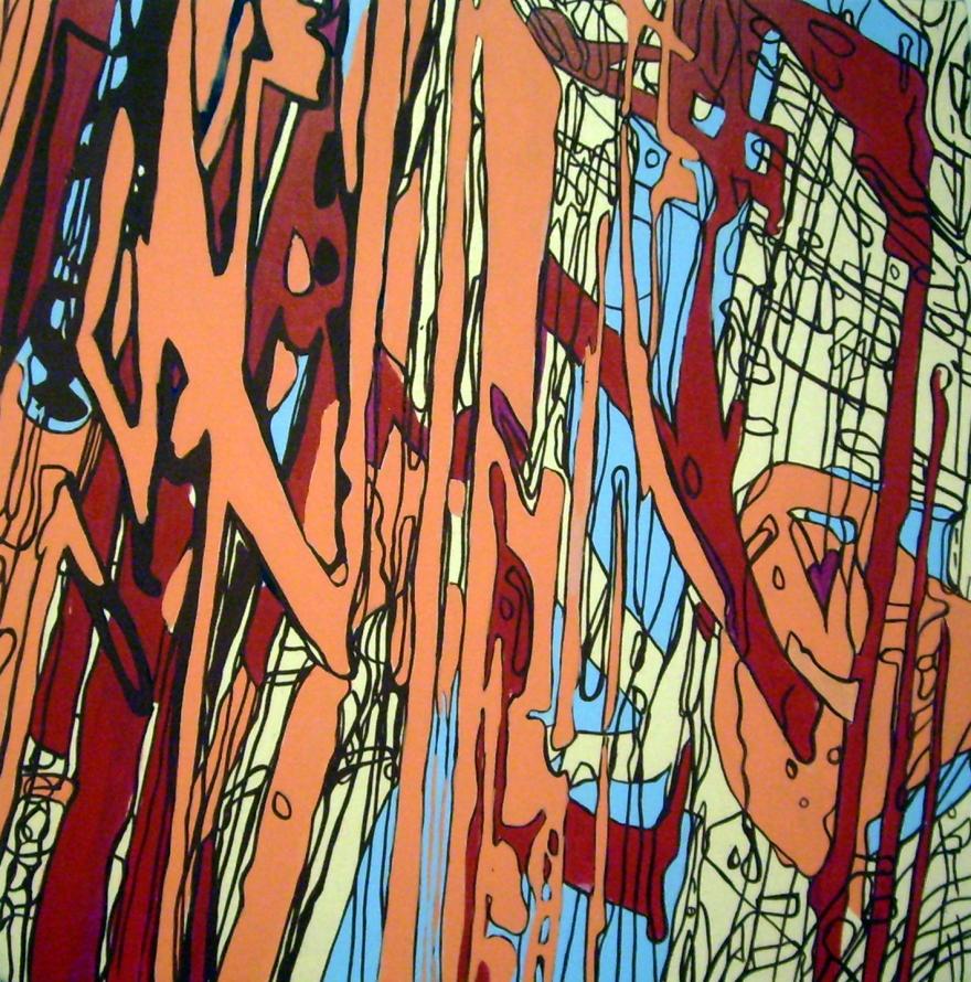"Maspeth 2, Oil on Canvas, 27"" x 27"", 2007"