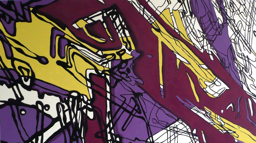 "Velocity Hazzard, Oil on Canvas, 34"" x 56"", 2007"