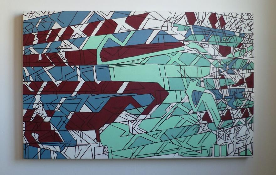 "Bumpy North 7th, Oil on Canvas, 34"" x 54"", 2012"