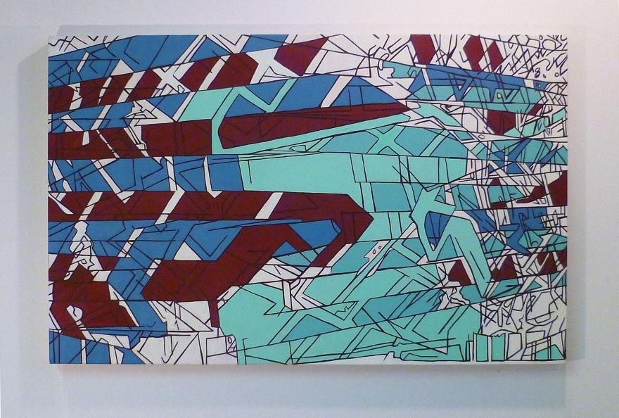 "Bumpy North 7th, Oil on Canvas, 54"" x 54"", 2012"