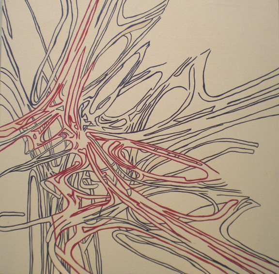 "Idlewild, Oil on Canvas, 24"" x 24"", 2011"