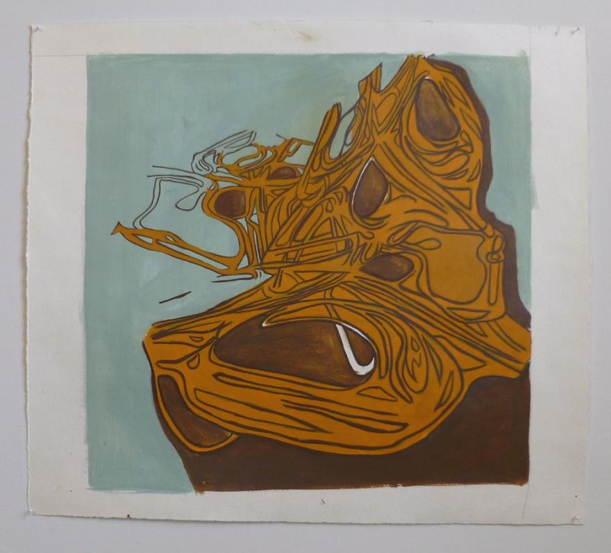 "Idlewild 1, Oil on Paper, 28"" x 28"", 2011"