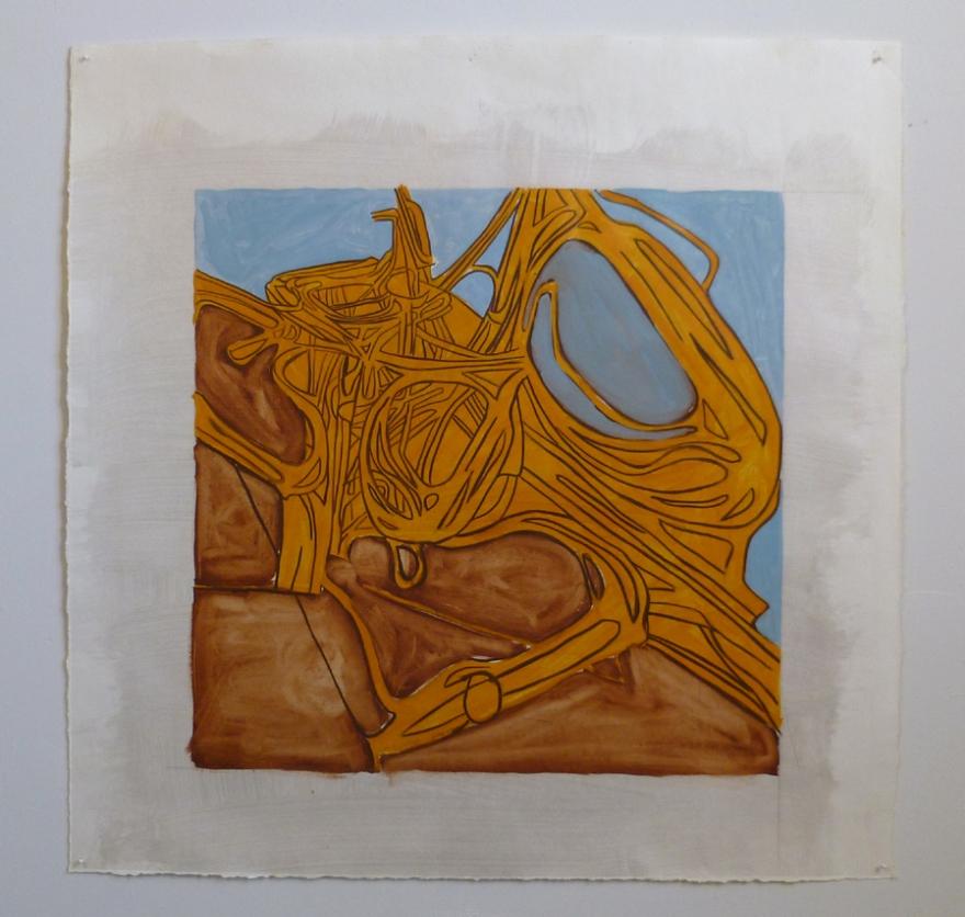 "Idlewild 2, Oil on Paper, 28"" x 28"", 2011"