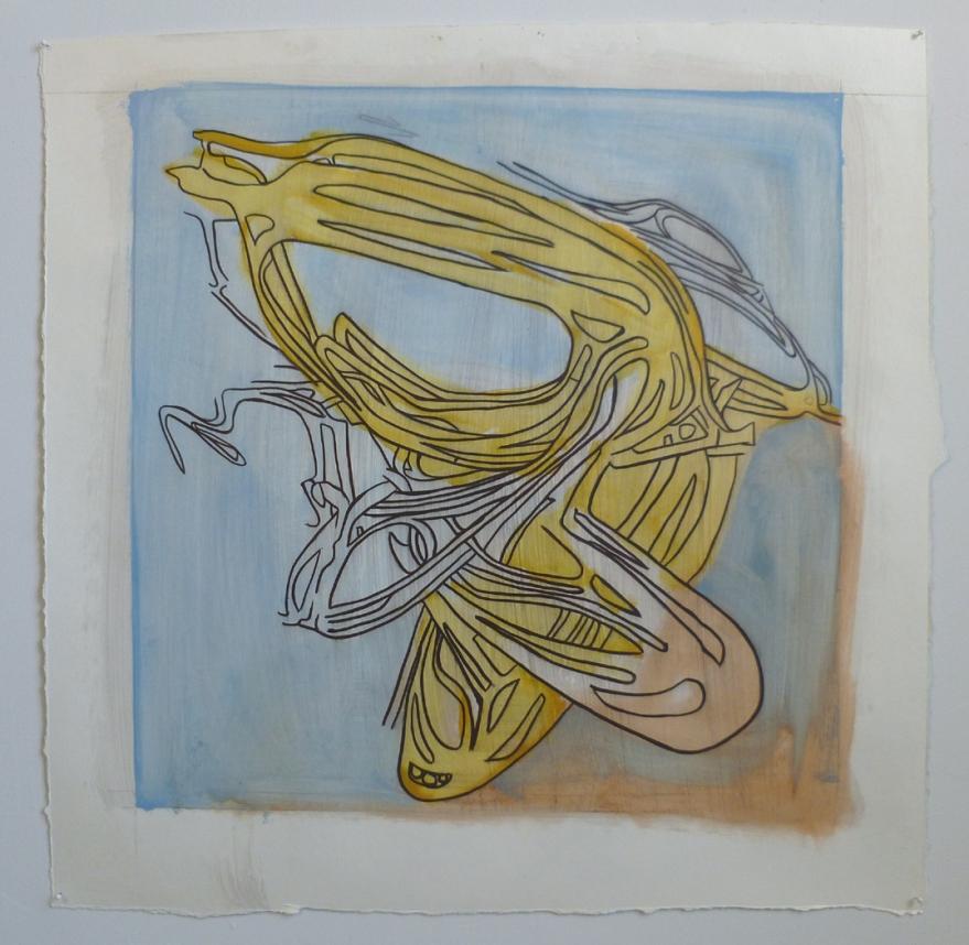 "Idlewild 3, Oil on Paper, 28"" x 28"", 2011"