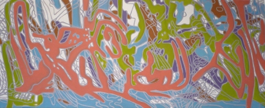 "Kabetogema, Oil on Canvas, 64"" x 26"", 2006"