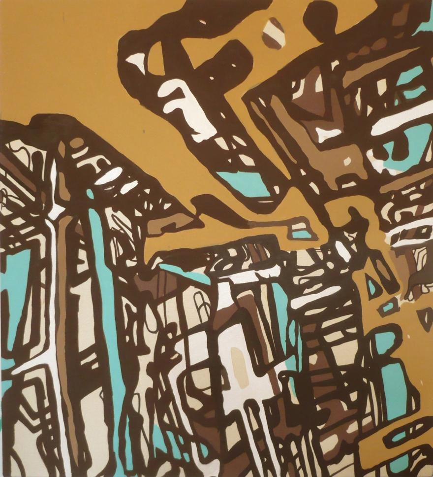 """Lakeland 5, Oil on Canvas, 42"""" x 34"""", 2008"""