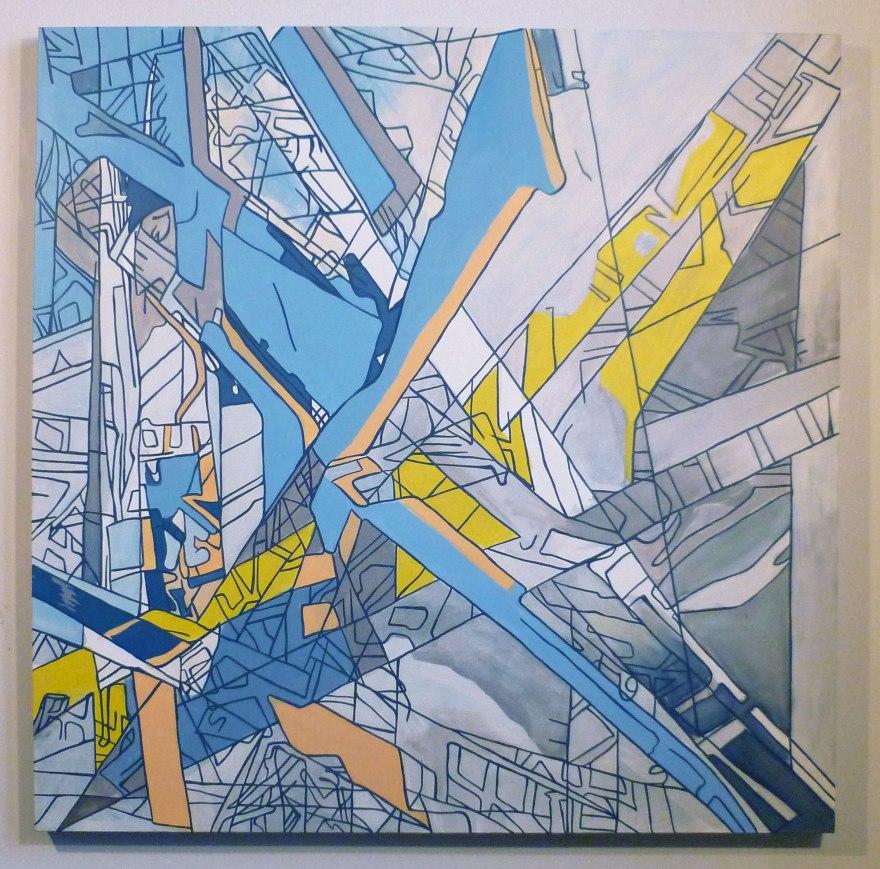 "Hurricane, Oil On Canvas 54"" x 54"", 2012"