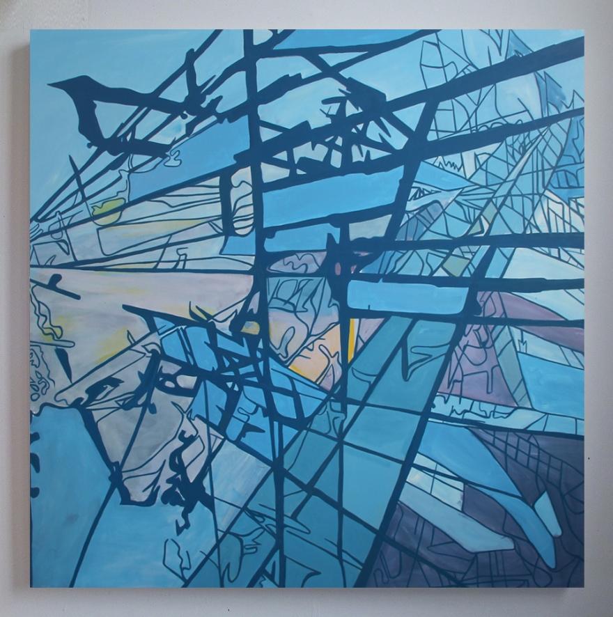 """Broken Land, Oil On Canvas, 54"""" x 54"""", 2013"""