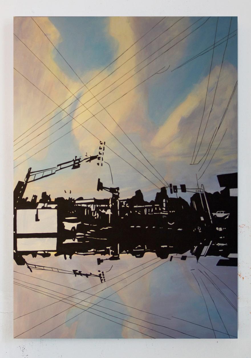 Century Ave, Oil on Canvas, 60 x 40, 2016