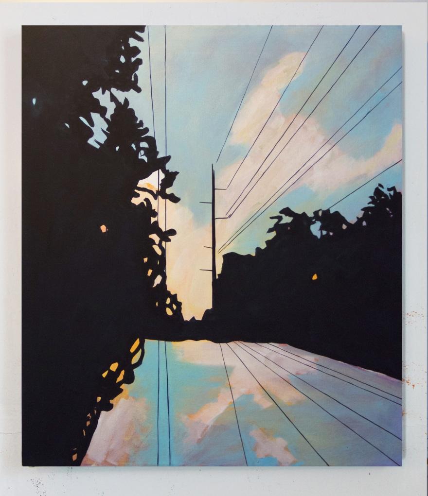 Fairview Lane, Oil on Canvas, 34 x 28, 2015