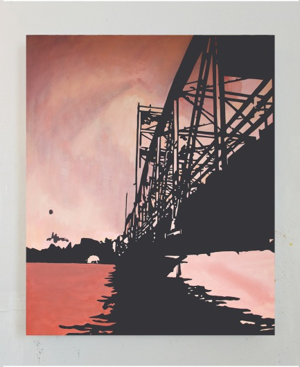Lift Bridge, Oil On Canvas, 54 x 44, 2017