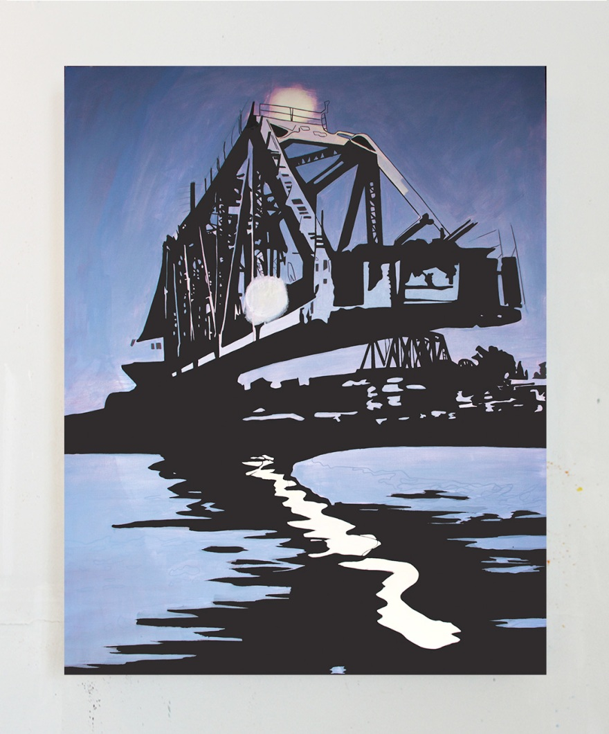 Slagle_Swing-Bridge-Evening_Oil-on-Canvas_60x47_2017