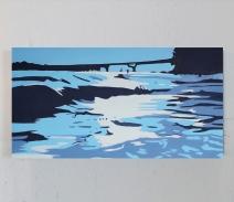 Michael-Slagle_Lakeland-Beach_Oil-on-Canvas_18x36_2018