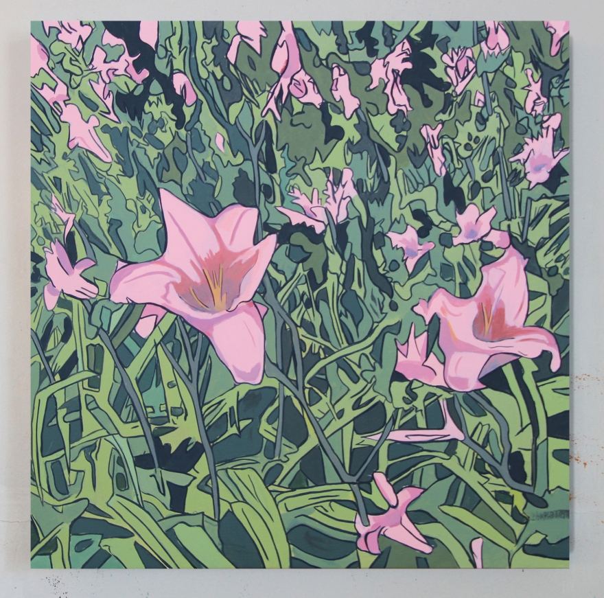 Michael-Slagle_Lillies_Oil-on-Canvas_26x26_2018